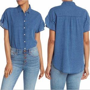 MADEWELL Central Ruffle Sleeve Shirt.